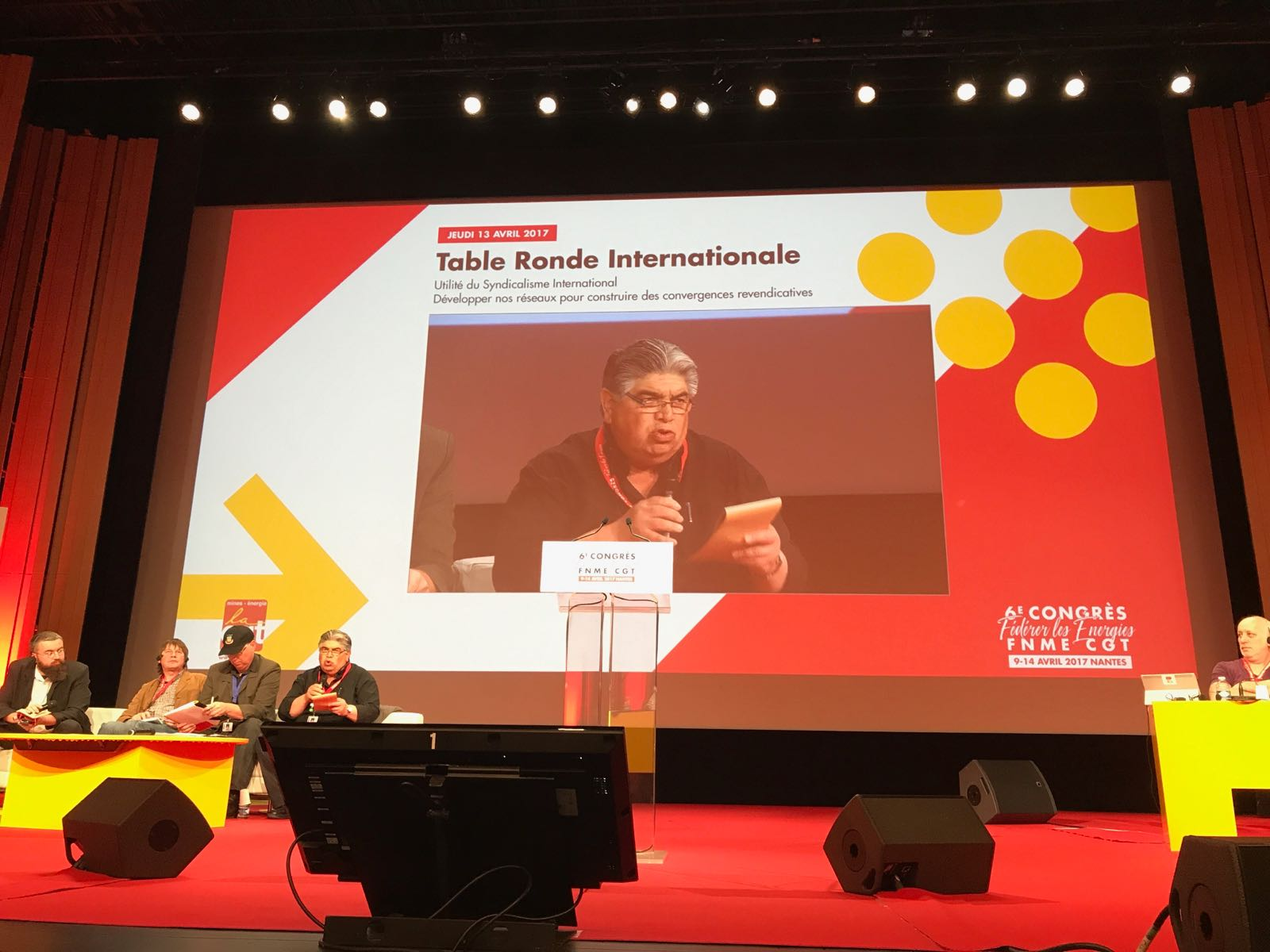 José Rigane participates at the 6th Congress of the National Federation of Mining and Energy of France