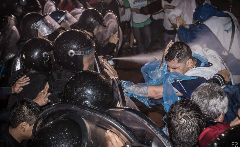FeTERA repudiates the repression suffered by teachers in front of Congress