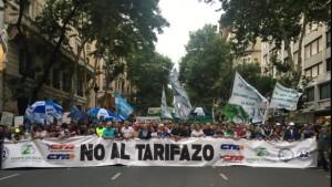 Marchas contra el tarifazo 2019