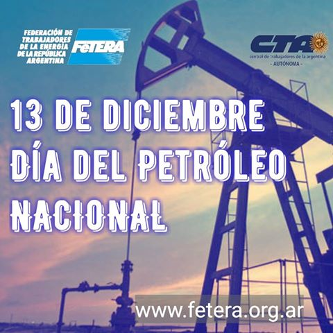 December 13: National Oil Day