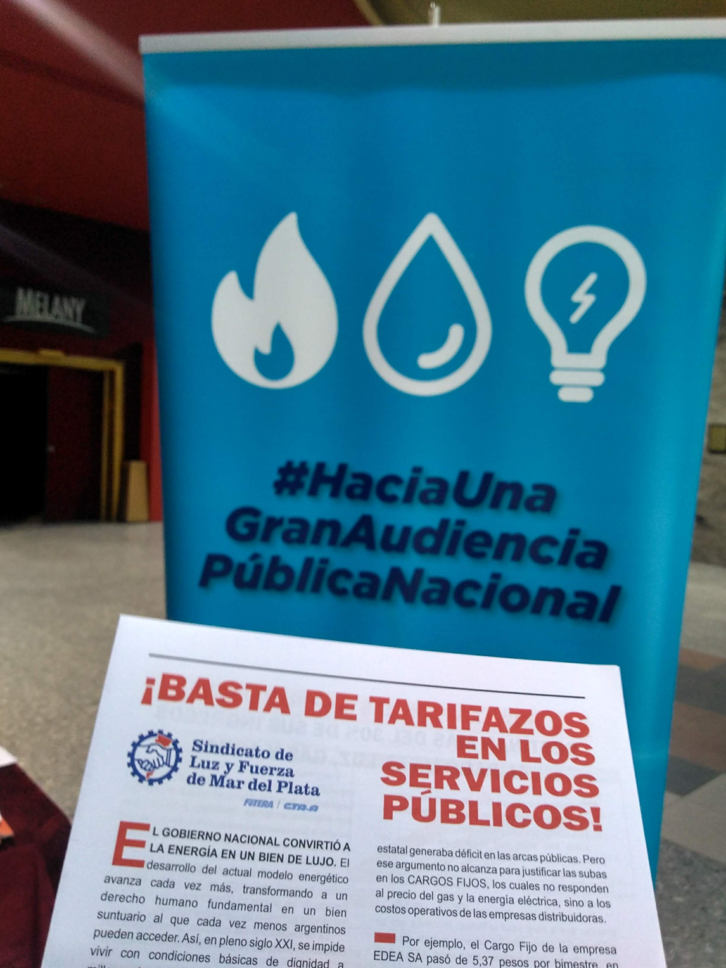 Enough with the rate hikes! Public hearing in Mar del Plata