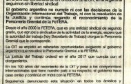 FeTERA's Open Letter: The Argentine Government continues to contravene ILO's recommendations